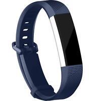 Fitbit Alta HR Armband Größe L Ersatz Band Silikon Sport Ersatzband Fitness Blau