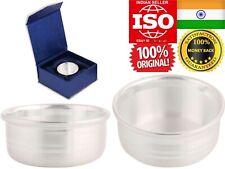Pure Silver 100% Chandi Bowl Katori Vati 25G Eat Food Sweet Prasad God Adult Kid