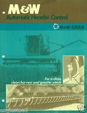 Farm Combine Brochure - M&W Gear - Automatic Header Control (F4275)
