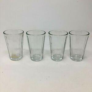 Set of 4 Vintage Anchor Hocking Clear Ribbed Glass Juice Glasses