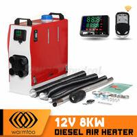 Warmtoo All In One Metal 12V 8KW Diesel Air Heater 8000W Motorhome Trucks  @ Q