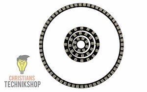 WS2812B RGB LED Ringe schwarz in verschiedenen Größen   8 - 241 LEDs möglich