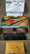 Athearn ATH 5016 Unbuilt HO Scale Kit W/Box 40' A.T.S.F The Chief Boxcar 143053