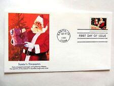 """octobre 17th, 1991 Saison VOEUX """" Santa's Trésors """" First jour édition"""