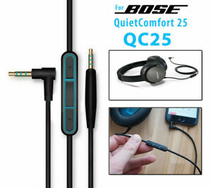 OEM Audio Aux Cable Cord Mic For BOSE QuietComfort QC 25 35 Headphones