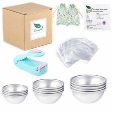 DIY Metal Bath Bomb Mold 12Pcs, 3 Sizes & 100 Pieces Shrink Wrap Bags + BONUS!