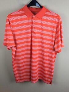 Nike golf dry fit tour performance men's XXL orange golf polo shirt