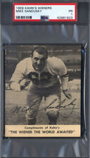 1959 Kahn's Wieners Mike Sandusky Rookie Steelers PSA 1 *694813