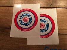 Strange Engineering Axle Decal 1960's Set of 2 Price Drop