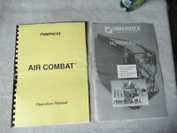 AIR COMBAT NAMCO SET   arcade game manual