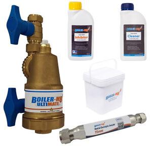 Brass Central Heating System Magnetic Boiler Filter Part L Compliance Pack 22mm