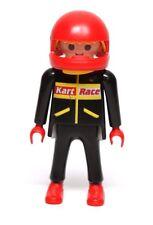 Playmobil Figure Kart Racer Motorcycle Rider w/ Red Helmet 3251