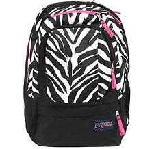 JANSPORT - Air Cure - Black White Pink Pansy Miss Zebra w/Laptop Sleeve BACKPACK
