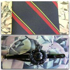 Royal Marines (Stripe) Tie & Tie Bar Set With ROYAL MARINE Tie Bar (dark) RM