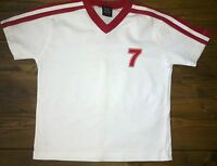 BOYS NEXT SHORT SLEEVE T-SHIRT AGE 3  WHITE & RED.VERY GOOD CONDITION