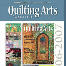 10 Issues ON on CD: QUILTING ARTS MAGAZINE 2006 - 2007 Faux Texture Machine Felt