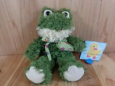 "HUGGIES FROG 14"" Plush Green with Dotted Bow UNIPAK Designs 6100SFR"