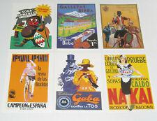 Lot de 6 Carte Postale Reproduction Affiche Publicitaire Ancienne Pub d