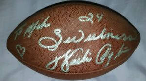 """WALTER PAYTON BEARS SIGNED PERSONALIZED """"TO MIKE"""" NFL FOOTBALL - BECKETT"""