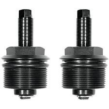 Speed Merchant Black 39mm Fork Spring Tube Preload Adjusters Cap Pair Set Harley