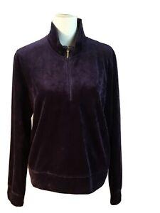Lauren Ralph Lauren Shirt 1/4 Zip Athletic Pullover Top Sweatshirt Purple XL