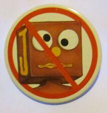 "Vintage 1985 Gumby BLOCKHEAD Pinback Button 2.25"" Rare"
