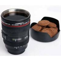 Black Camera Lens EF 24-105mm Travel Plastic Tea Coffee Mug Cup Drinking Mug