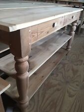 """Amish Made Reclaimed Barnwood Console Entryway Table 60""""x18"""" - New, Solid Wood"""