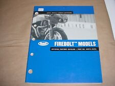 Buell Parts Catalog 2004 FIREBOLT MODELS 99574-04YA