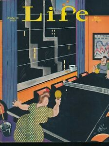 LIFE Oct. 31, 1930 Humor Magazine Office Night Maids Skyscraper PING-PONG Cover