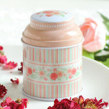 Home Flower Metal Iron Tin Can Storage Tea Candy Coin Jewelry Gift Box Case New