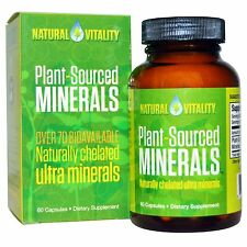 Natural Vitality, Plant-Sourced Minerals, 60 Capsules