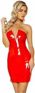 Roma Costume Women's V-Wire Vinyl Dress, Red, Size Medium 6Yto