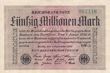 * Ro. 108e - 50 millones de Mark-Deutsches Reich - 1923-Fz: BW *