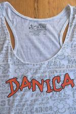 EUC! DANICA Patrick white racerback tank (L) NASCAR CHASE Authentics