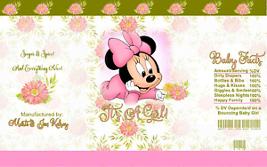 12 Minnie Mouse Its Girl Chip Bag Treat Bags Personalized Baby Shower