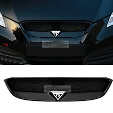 Front Radiator Hood Emblem Mesh Grille unpainted for HYUNDAI 09-12 Genesis Coupe
