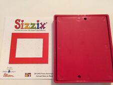 Sizzix Die Rectangle Frame DieCut Original Bigz Red Bigkick Retired Scrapbook