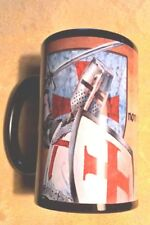 Knights Templar Crusader Coffee Mug BLACK Banned from L'boro Market