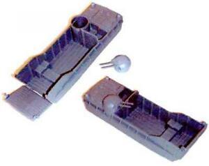 "Marx PL-1016OD ""Marx Landing Craft LCVP (Two) - Dark Green"" Plastic Toy Vehicles"