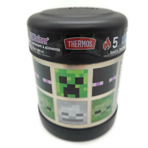 Minecraft Thermos® FUNtainer 10 Oz. Stainless Steel Insulated Food Jar Free Ship