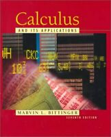 Calculus and Its Applications Hardcover Marvin L. Bittinger