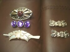 Lot of 4 Hair Barrettes Clips 2 Metal Cat Family and Butterfly Other