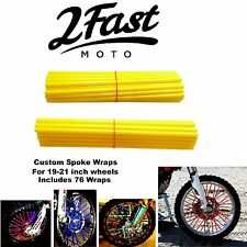 2FastMoto Spoke Wrap Kit Golden Yellow Wraps Skinz Skins Custom Spokes Kawasaki