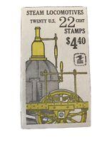 U.S. Booklet #163, 22 cent Locomotives, MNH, BK163