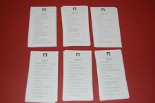 New ListingScattergories Game 36 Category Cards Full set Replacement pieces parts 1988 1997
