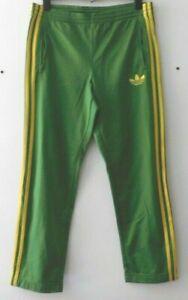 Vintage adidas Jamaica Brazil Green Tracksuit Bottoms Pants Side Zip Size S