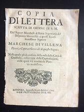 1702 CAPITOLAZIONE DELLA CITTA' DI GUASTALLA REGGIO EMILIA