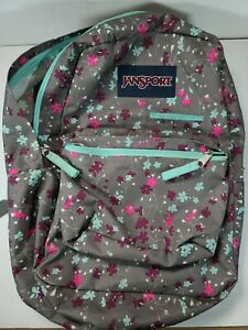 JanSport SuperBreak Backpack - Grey Floral