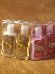 2 X 2 Packs April Bath and Shower Conditioner and Shampoo Travel Set 2.5 oz.